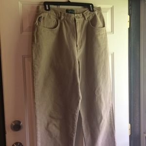 Lauren Ralph Lauren womens Pants 14 Cotton Tan